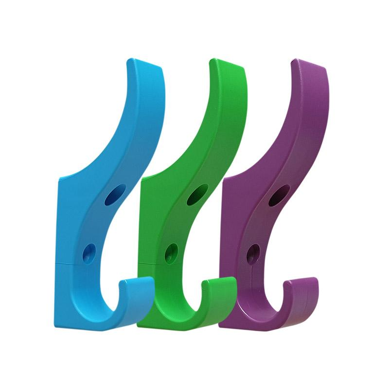 DuraHook Unbreakable Plastic Coat Hooks for Schools