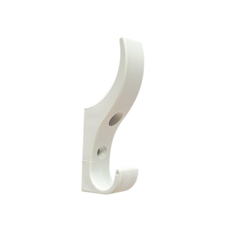 DuraHook Unbreakable Plastic Coat Hook - Bright White