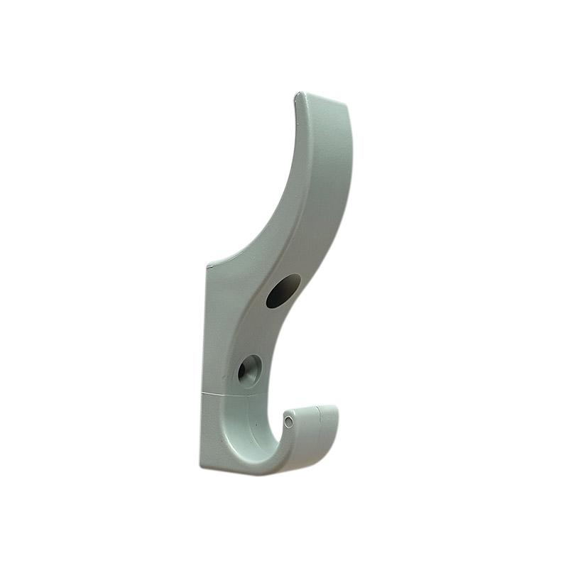 DuraHook Unbreakable Plastic Coat Hook - Dove Grey