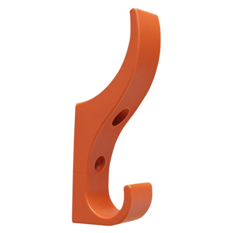 DuraHook Unbreakable Plastic Coat Hooks - Fresh Orange