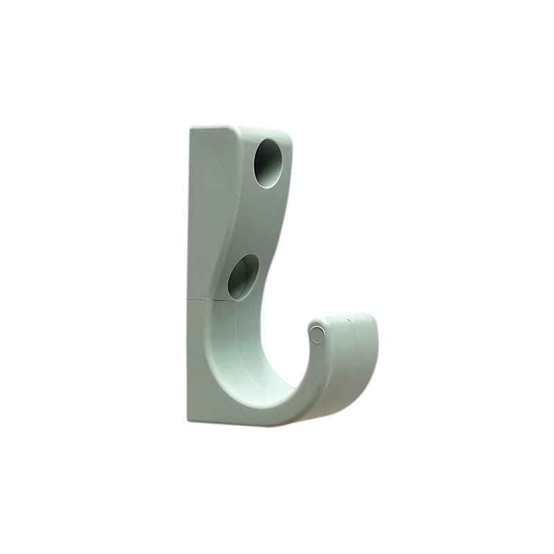 DuraHook Uno Plastic Coat Hook - Dove Grey