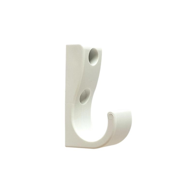 DuraHook Uno Plastic Coat Hook - Bright White