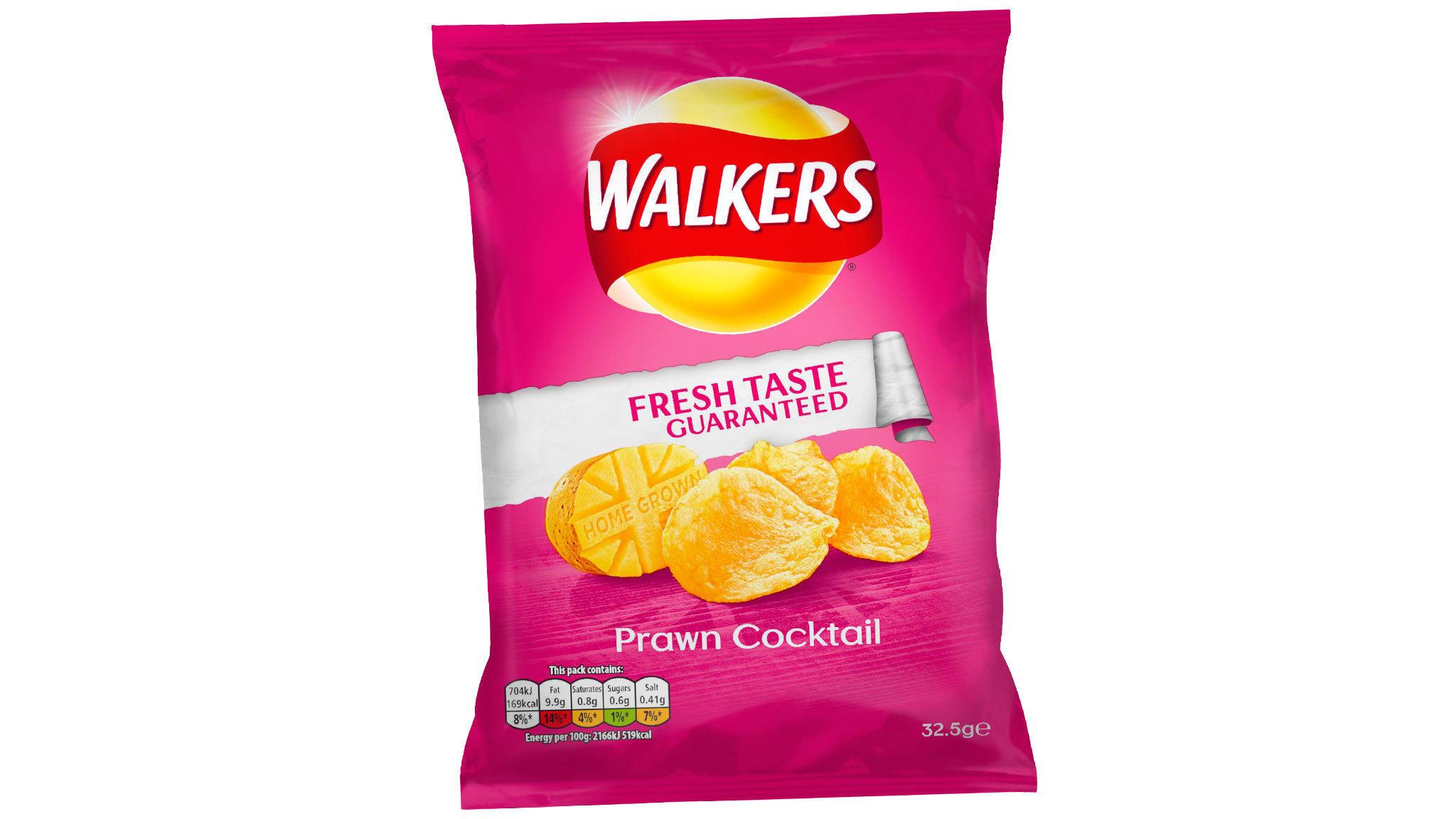 Walkers Crisps Prawn Cocktail 32.5G 32x32.5g