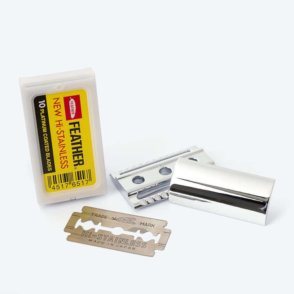 Feather double edge safety razor blades