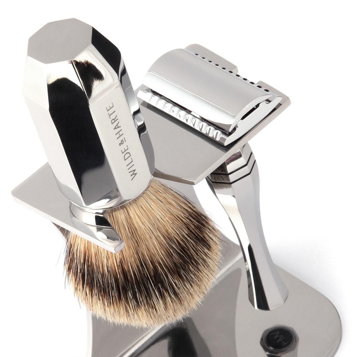 mens razor and shaving brush set