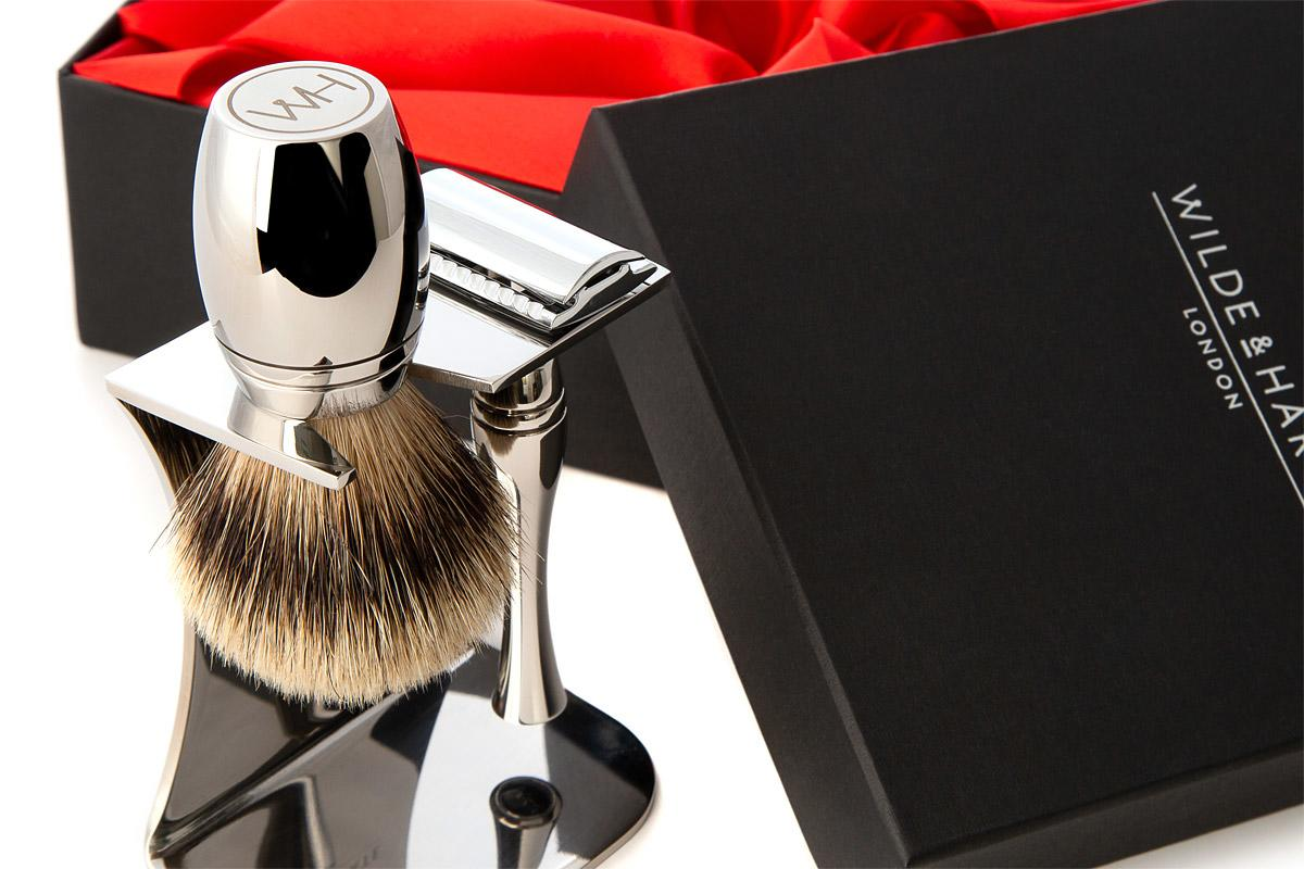 British made shaving sets for men