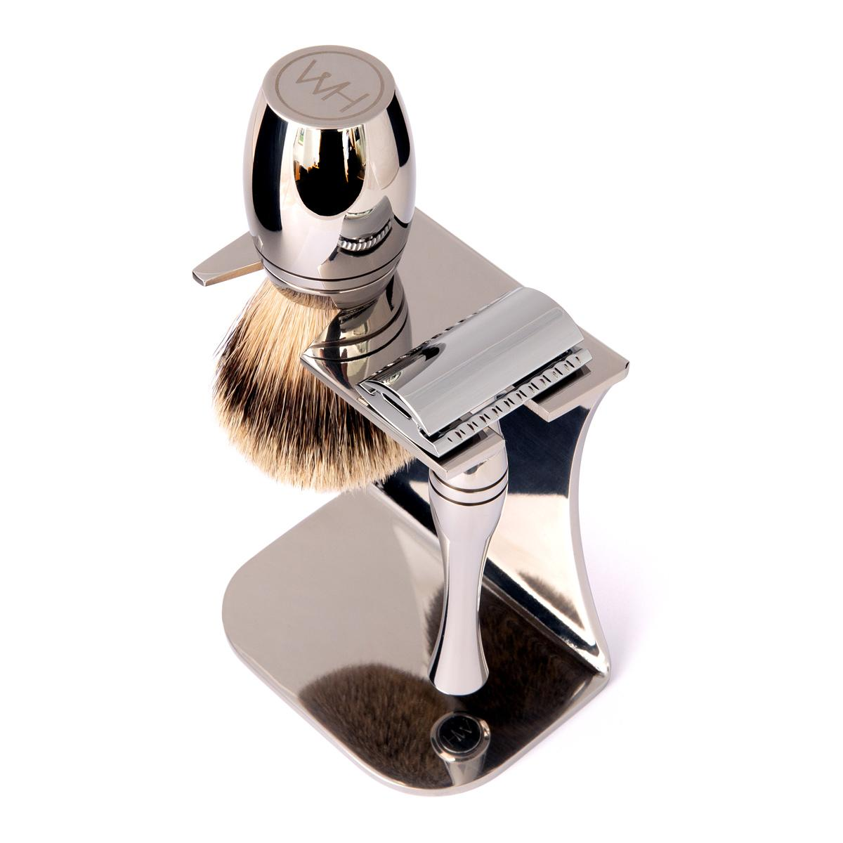 safety razor and shaving brush gift set