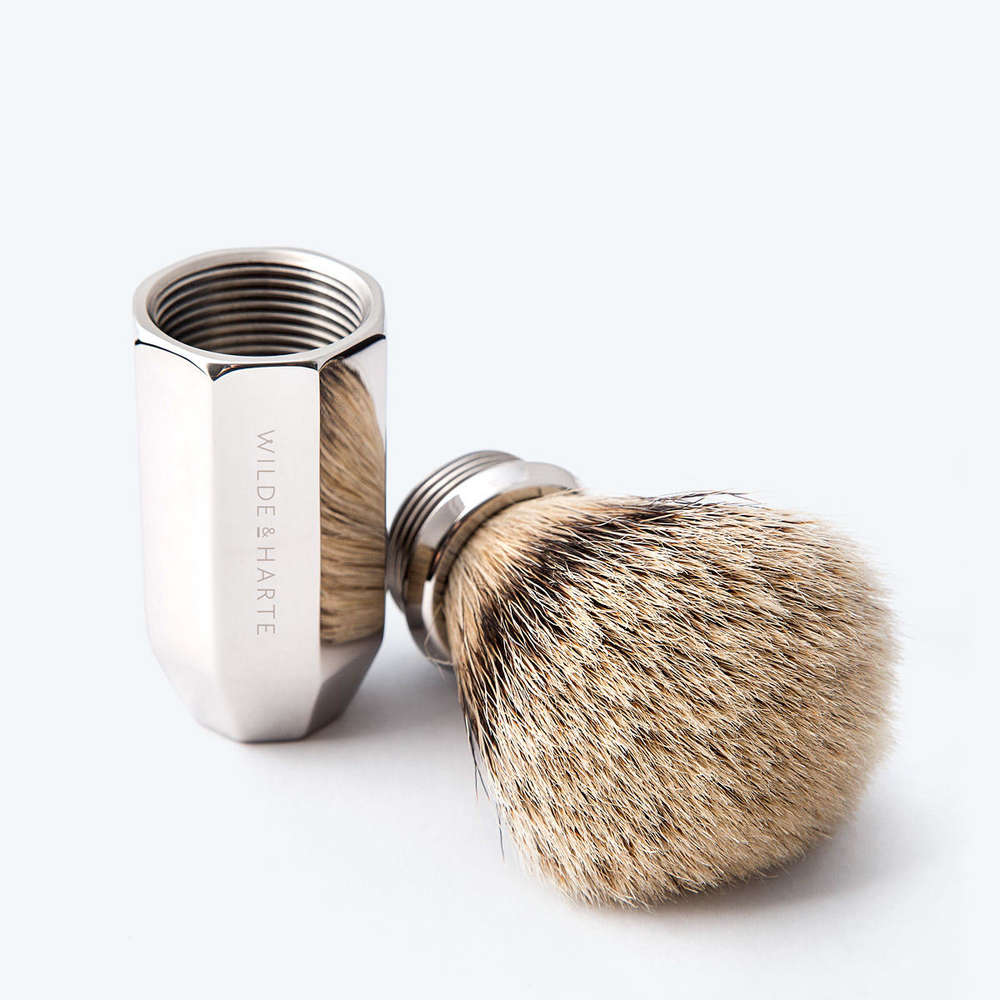 Replacement fibres for shaving brush