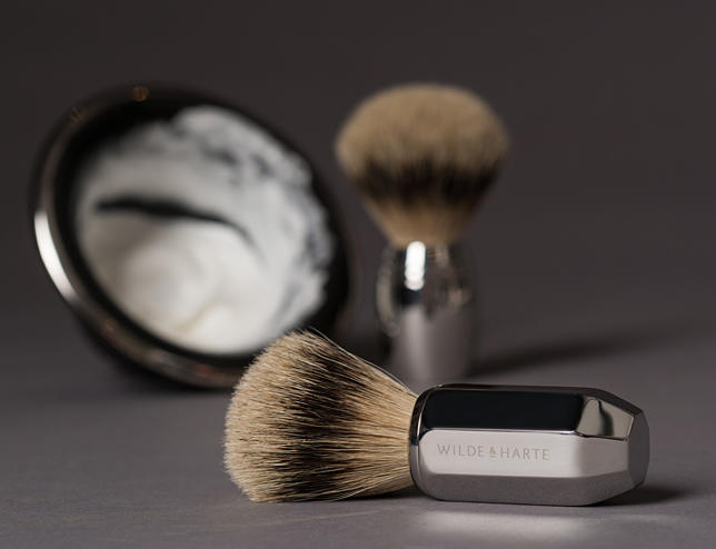 luxury badger shaving brushes from Wilde & Harte
