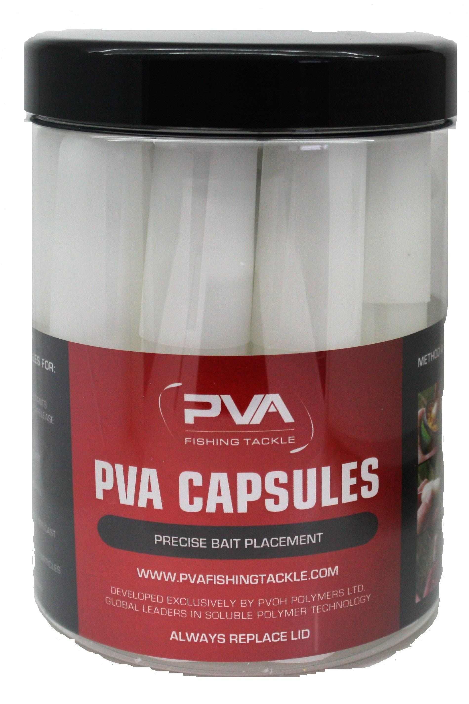 Pack of 20 PVA Bait capsules for precise bait placement