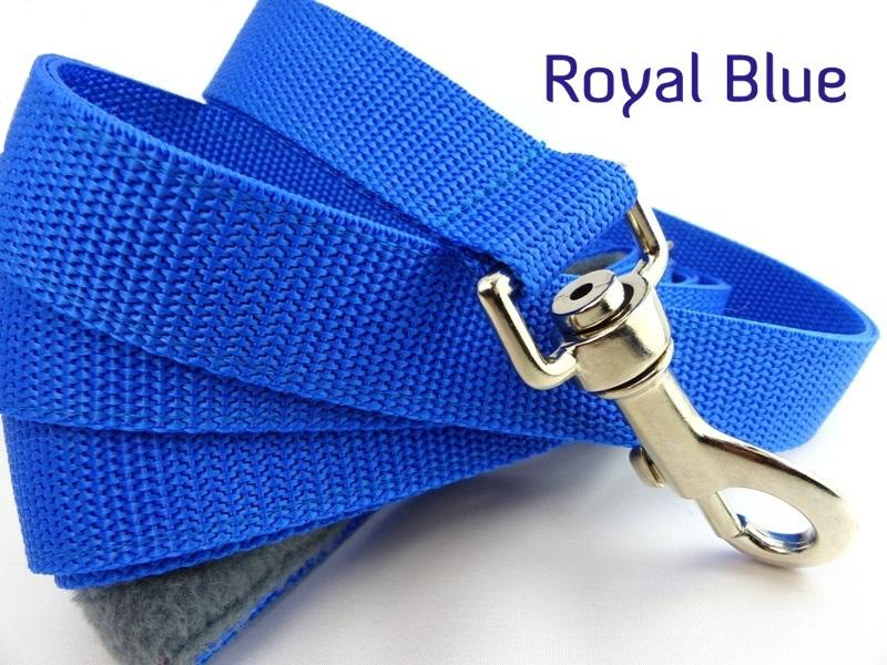 Royal blue webbing long lead