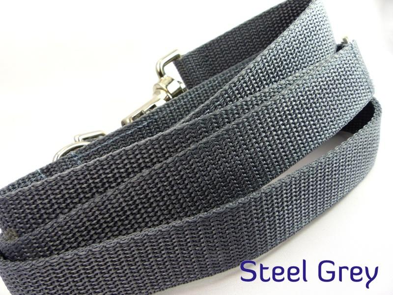 Steel grey webbing long lead