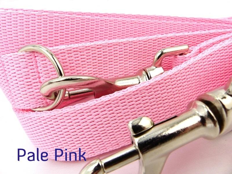 Pale Pink webbing long lead