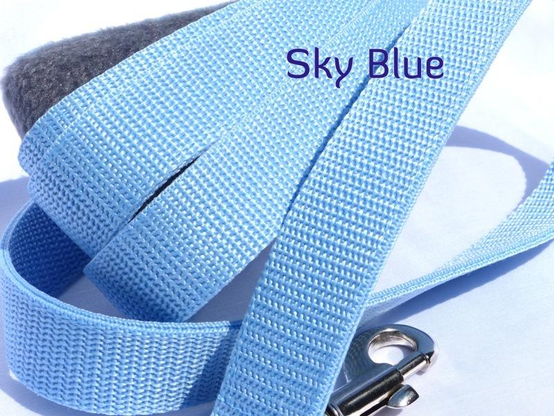 Sky blue webbing long lead