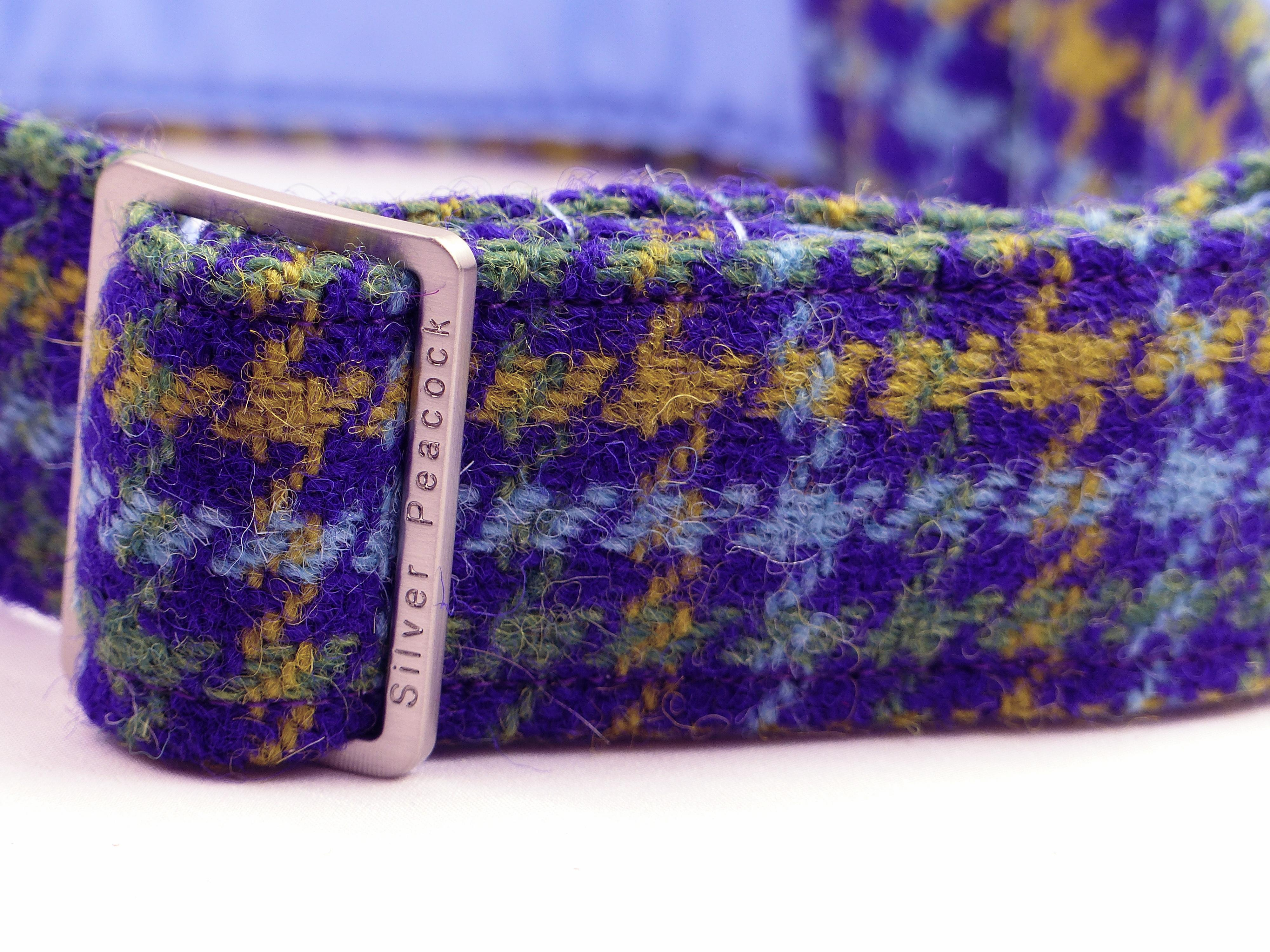 Harris tweed house collar