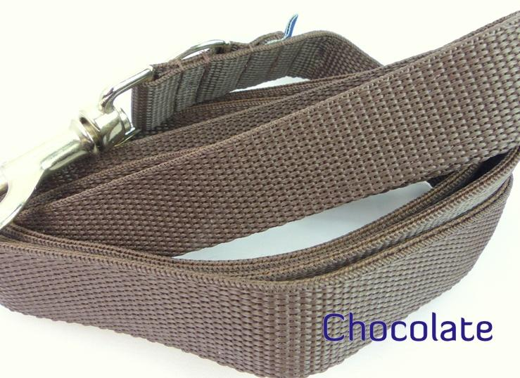 Chocolate webbing long lead