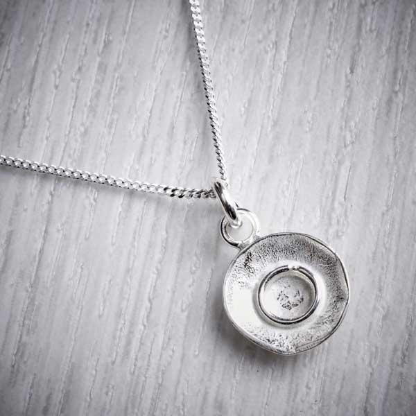 Handmade silver reticulated pendant by Fi Mehra