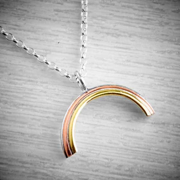 Stripy Rainbow of hope NHS necklace by Emma White