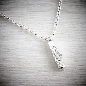 Silver Letter I Necklace, made by Elin Mair, Image property of THE JEWELLERY MAKERS