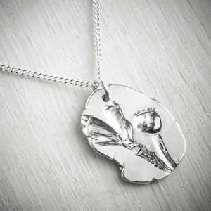 Poppy Silver necklace, made by Becca Macdonald. Image property of ThE JEWELLERY MAKERS