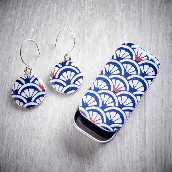 Arches Sixpence Earrings and Tiny Tin by Leigh Shepherd