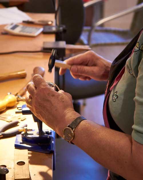 shaping metal jewellery making