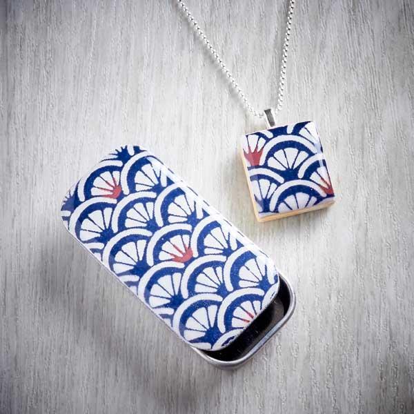 tile necklace