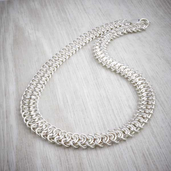 Silver Chainmaille King's Chain Necklace by Laura Brookes