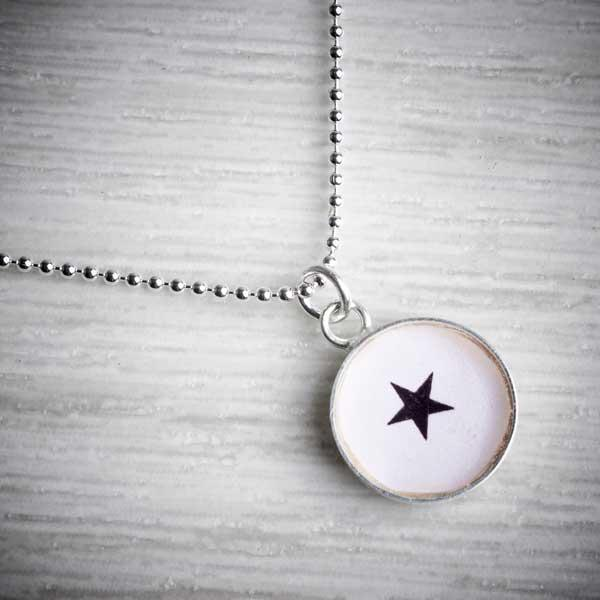 Silver & Resin Star Charm Pendant by Clare Collinson. Image property of THE JEWELLERY MAKERS.