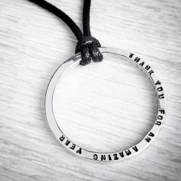 Personalised Tiny Text on Bootlace Necklace by Emma White