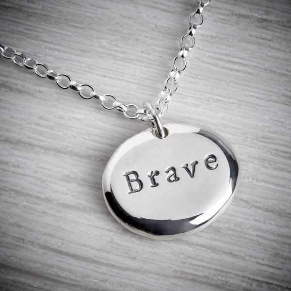 Silver 'Brave' Pebble