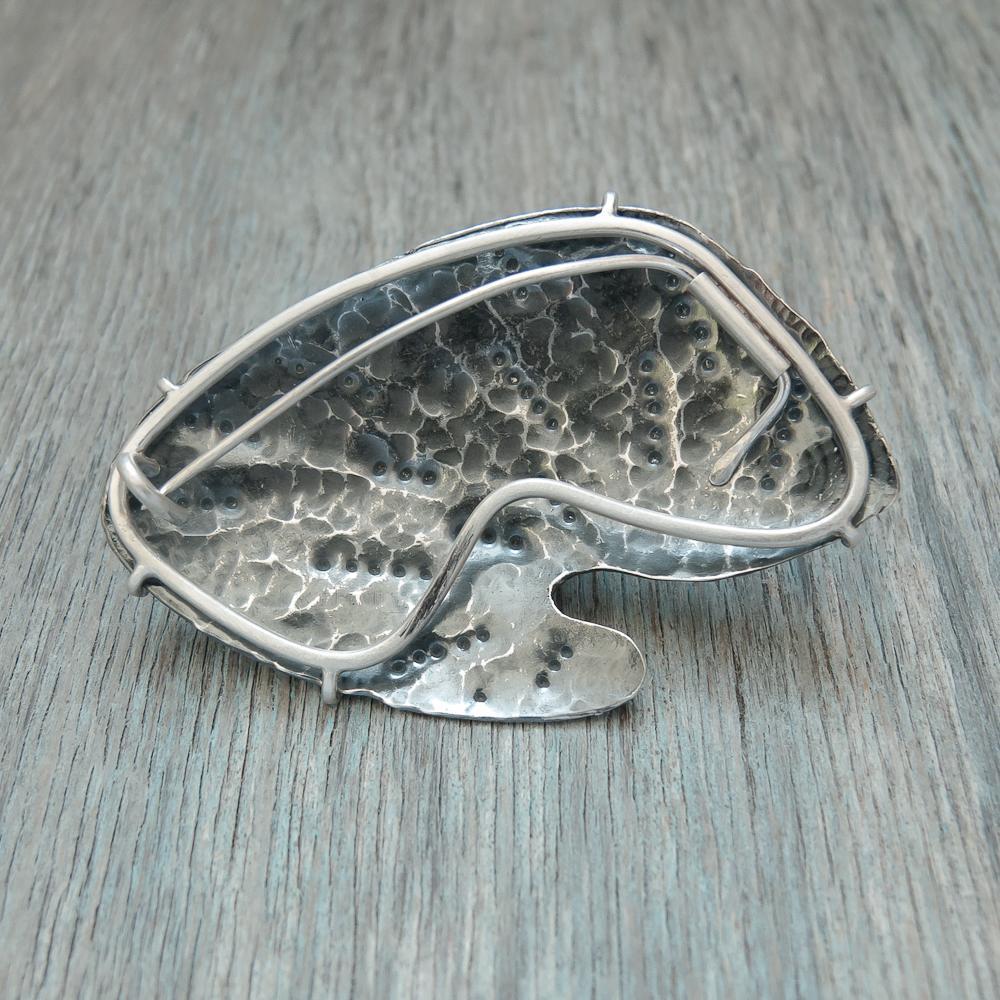 Devil's Toenail Fossil brooch jewellery making