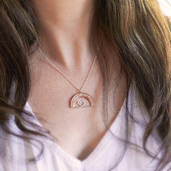 I kinda think you're amazing rainbow charity necklace