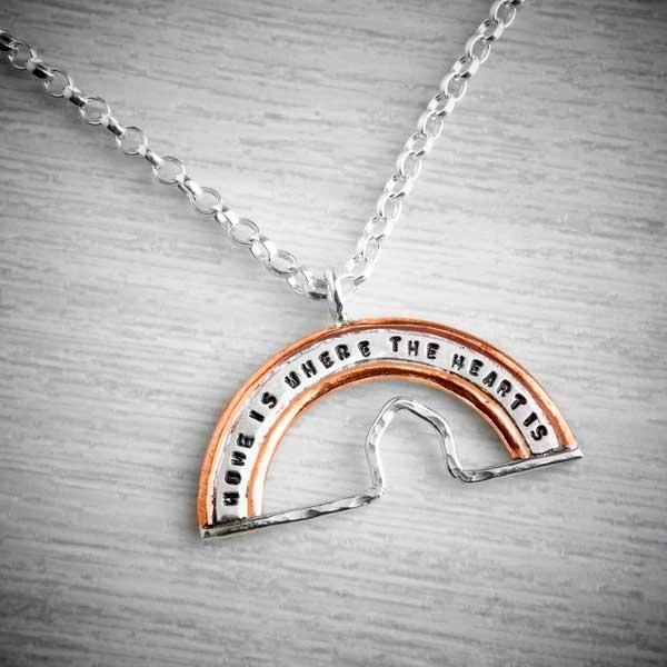 home is where the heart is rainbow charity necklace