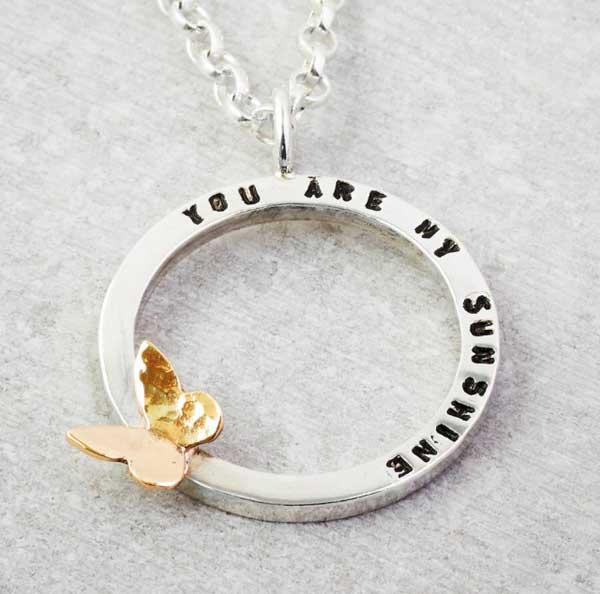 personalised pendant ring