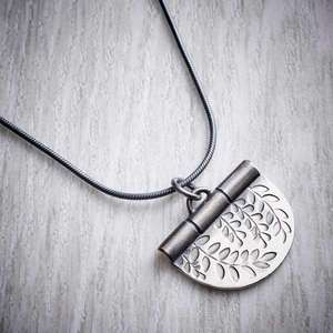 Silver Vines Stamped Necklace by Helen Shere