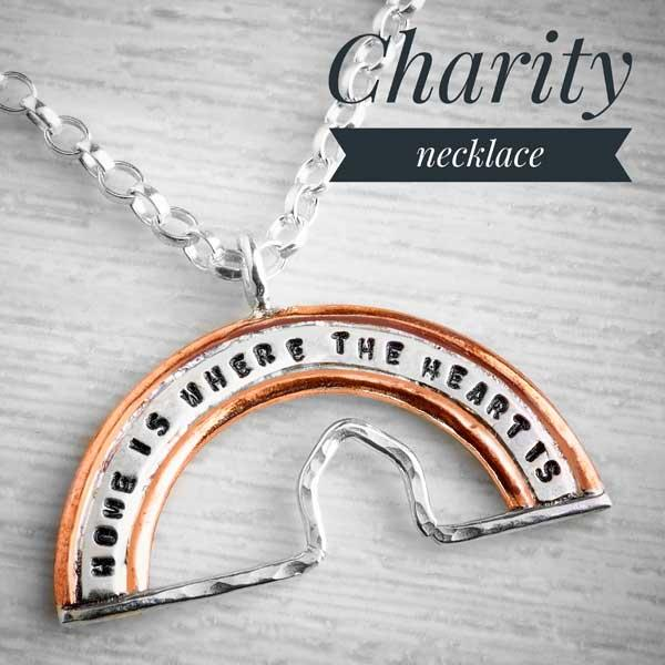 Charity Necklace for Leeds Women's Aid, Home rainbow by Emma White