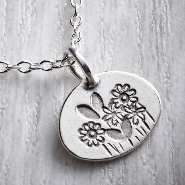 Silver Small Spring Charm Necklace by Helen Shere