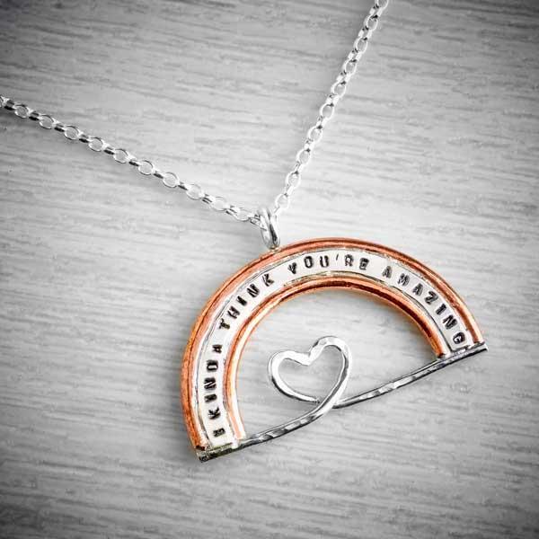 'I kinda think you're amazing' Rainbow Necklace by Emma White