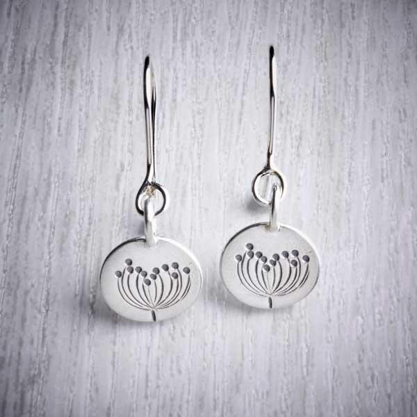 Silver Autumn Dangle Earrings by Helen Shere