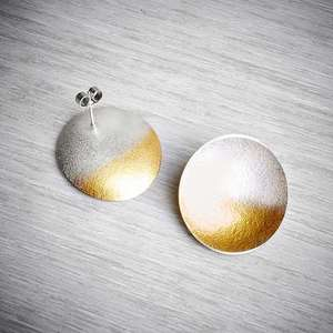 Electra Stud Earrings in Silver and Gold by Kokkino