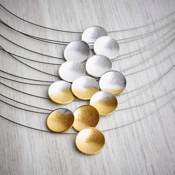 Silver and gold ombre necklace by Melanie Ankers, Kokkino