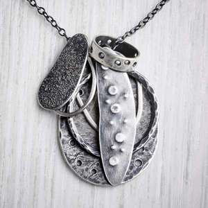 'Flotsam' Recycled Silver Necklace by Evie Milo, Milomade. Image property of THE JEWELLERY MAKERS