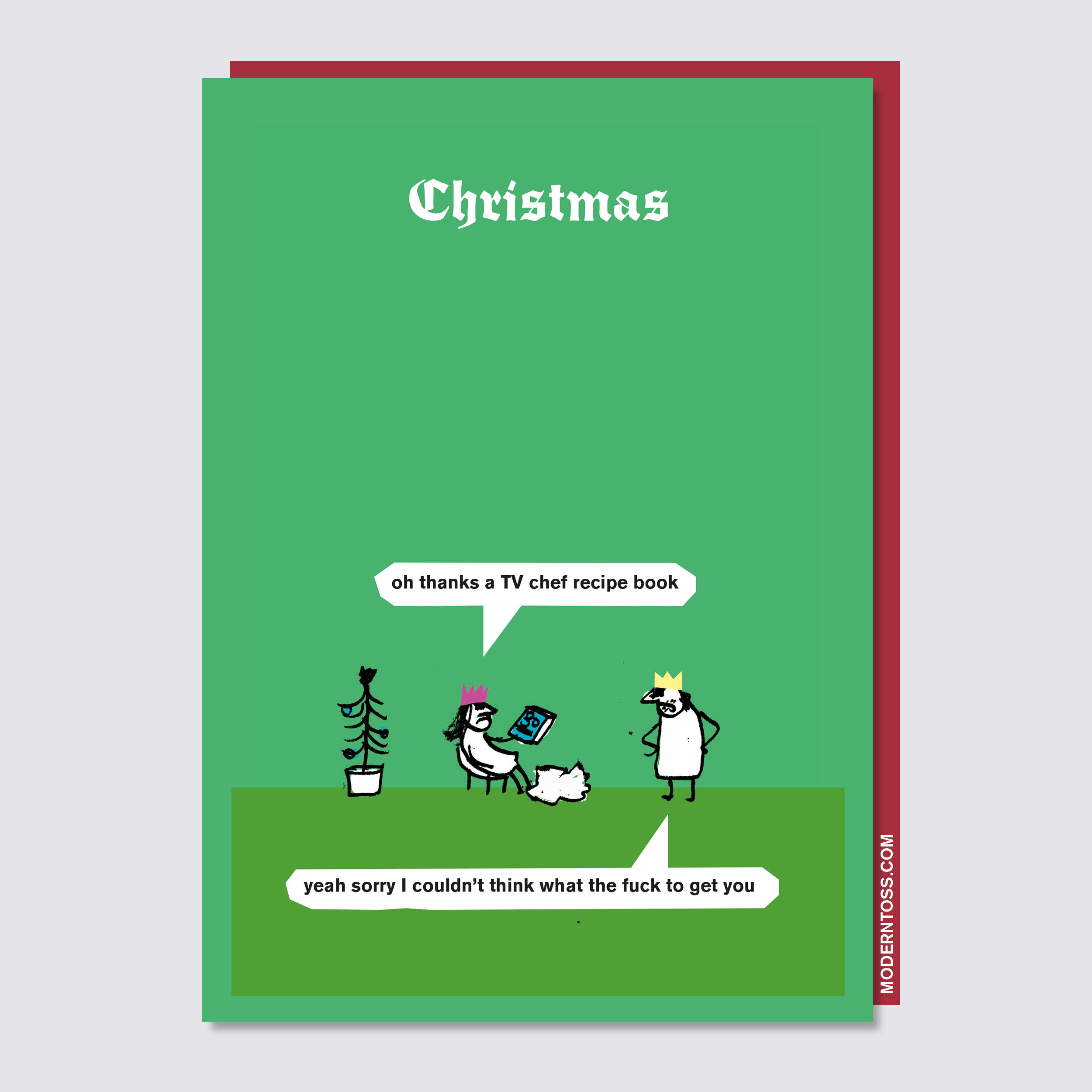 Recipe Book Christmas Card