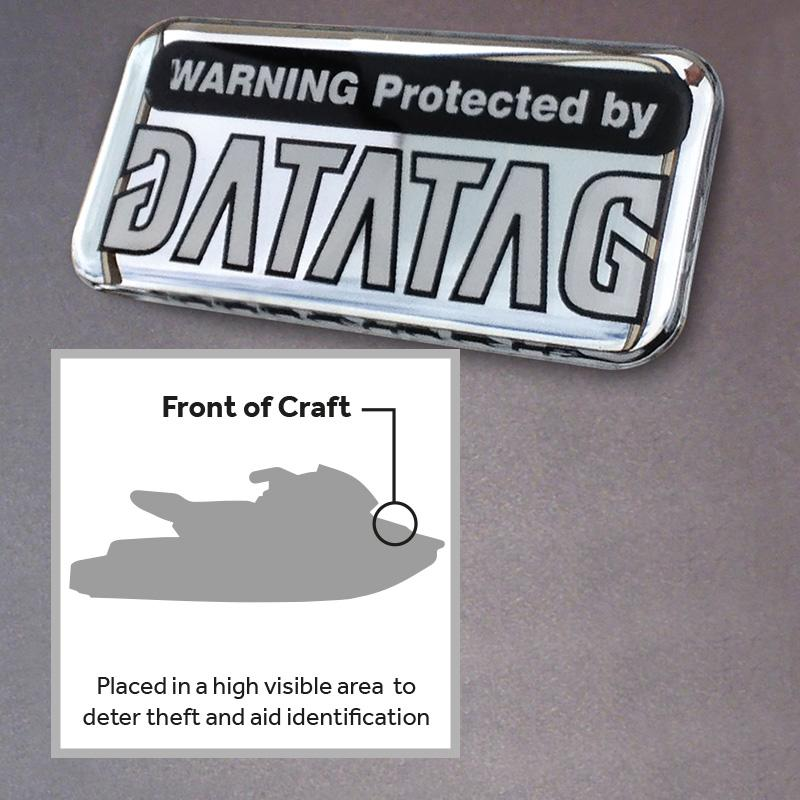Datatag PWC Domed Resin Warning Label