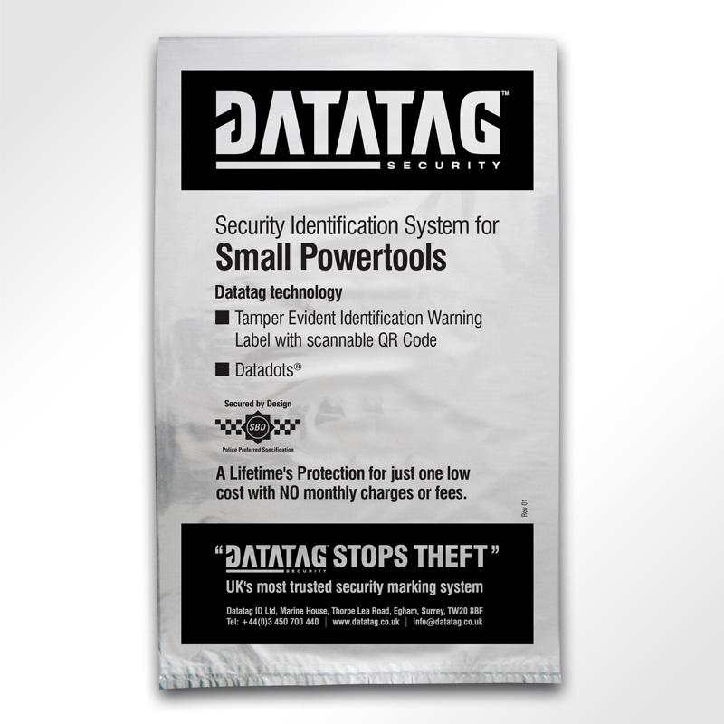 Datatag powertool system packaging