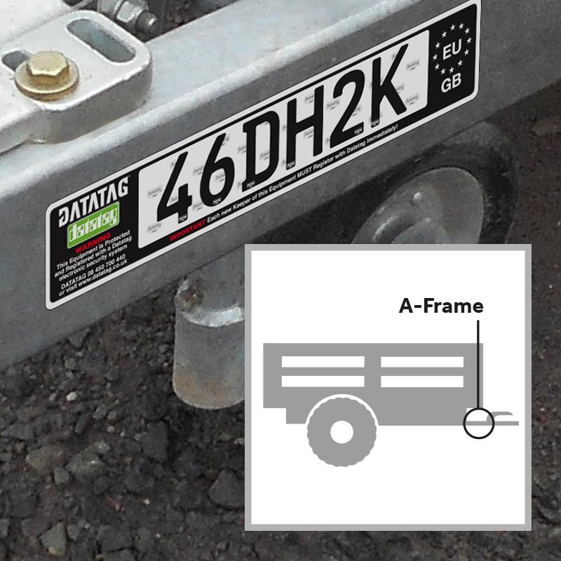 Datatag Trailer Identification Label