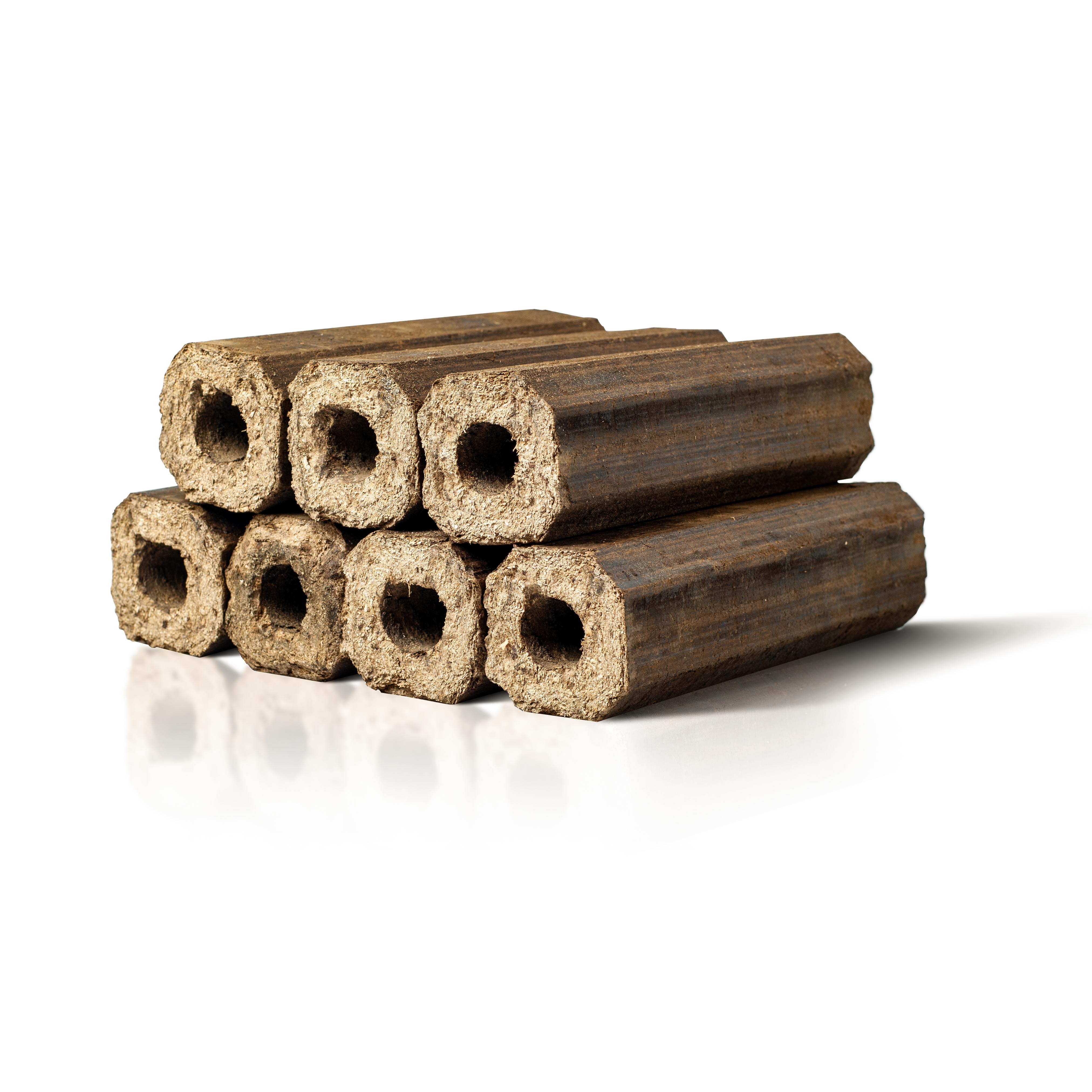 Pini-Kay Wood Briquettes Heat Logs Close Up