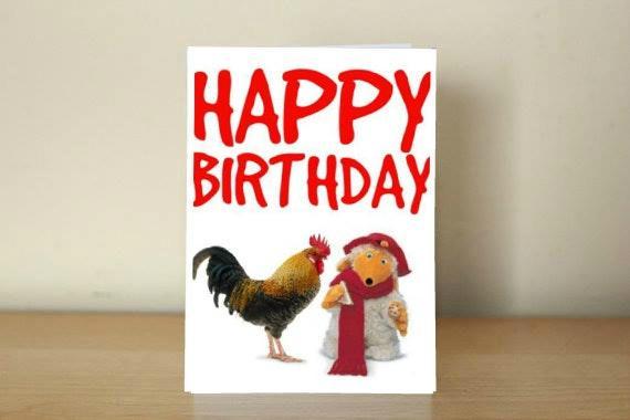 Happy Birthday Card Cock Womble