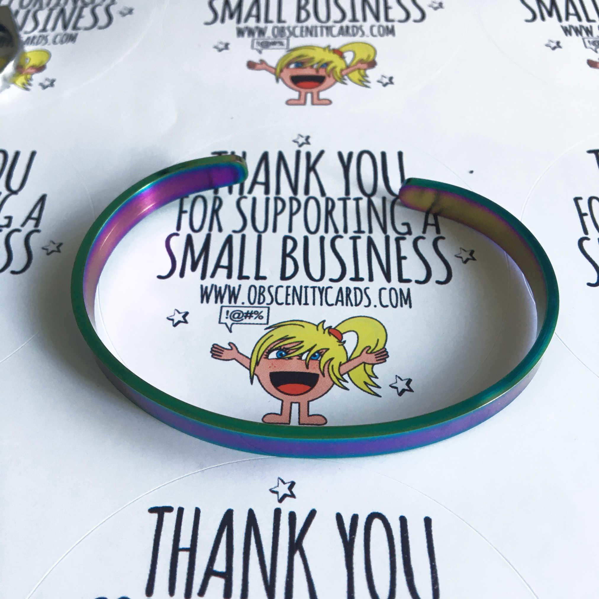 YOU FUCKING GOT THIS (hidden message) MULTI-COLOUR BRACELET
